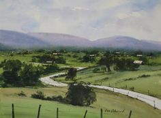 Jim Oberst   WATERCOLOR    The Road to Tywyn