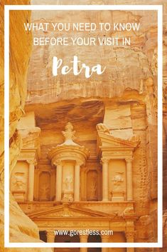 Petra, Jordan - what you need to know before visiting - Go Restless New Seven Wonders, Rose City, Future Travel, Travel Information, World Heritage Sites, Petra, Trip Planning, Travel Photos, Need To Know