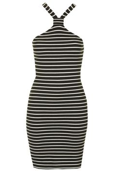 Notch Neck Striped Dress