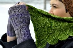 Ravelry: Owl in the Thicket Mitts pattern by Sara Burch