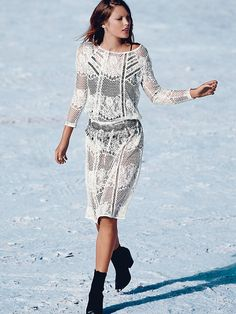 Free People Luna Lace Dress, $168.00 - love this look for the caribbean getaway or perfect for the summer.