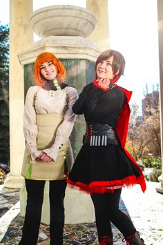 [Photographer] Raine Emery as Ruby and Velociraptorqueen as Penny from RWBY vol Funny Images, Funny Pictures, Rwby Cosplay, Meme Factory, Amazing Cosplay, Most Popular Memes, Logo Images, Cosplay Girls, Bigbang