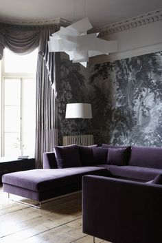 OOOOIIIY! Im wondering if Valley West house could pull off a purple sofa!!! Hmm
