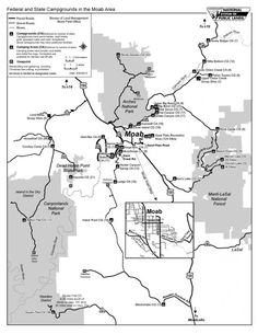 Map. Camping in the Moab Area