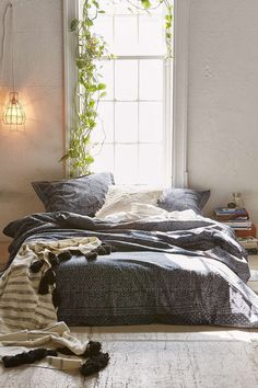 Magical Thinking Bandhani Duvet Cover-wishing it was navy and would get right away....hmm, gray.