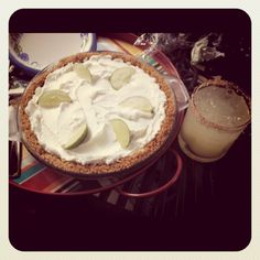 Key Lime Pie and Margaritas...Perfect for a summer feast with friends.