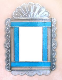 Tin and Stained Glass Mirror - Robert Montano - New Mexico History Museum My Tio
