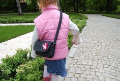 little dark grey handmade purse for girls felt purse by EtoiColors, $17.00