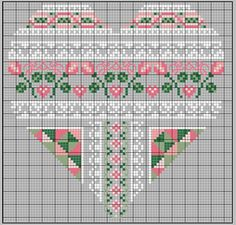 no color chart available, just use the pattern chart as your color guide. or choose your own colors. COEUR SAINT-VALENTIN Plus Cross Stitch Heart, Cross Stitch Borders, Cross Stitch Flowers, Counted Cross Stitch Patterns, Cross Stitch Designs, Cross Stitching, Embroidery Hearts, Cross Stitch Embroidery, Embroidery Patterns