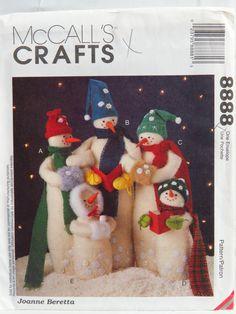 McCall's 8888 Snow Carolers Snowmen