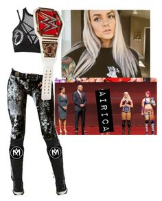 """""""Airica Monroe, Alexa Bliss, & Asuka announcing the 1st ever Women's Tournament"""" by atomic-blaster ❤ liked on Polyvore featuring Vision and Dsquared2"""