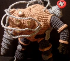 Nerdigurumi - Free Amigurumi Crochet Patterns with love for the Nerdy » » Amigurumi Big Daddy Bouncer from Bioshock, with Pattern!