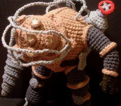 Nerdigurumi - Free Amigurumi Crochet Patterns with love for the Nerdy » » Amigurumi Big Daddy Bouncer from Bioshock, with Pattern!
