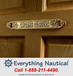 Captain's Quarters Brass Plaque 10512