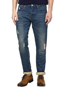 Buy HIZ & HERZ Mens Frank Skinny Ripped Blue Jeans Online at cheap ...