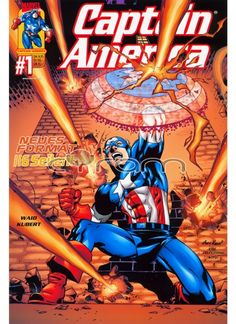Captain America #1 Comic-Großband im Prestigeformat von Panini aus dem Jahr 2001. (http://www.cyram-entertainment.de/shop/products/Buecher-Comics-Magazine/Comics/Marvel-Comics/Captain-America/Captain-America-1.html)