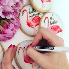 With edible calligraphy ink. | 18 Insanely Clever And Beautifully Decorated Cookies
