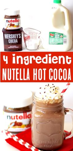 If you're a fan of Nutella. Go grab the Crockpot. it's time for a Crockpot Nutella Hot Chocolate Recipe! Simple and delicious! Hot Cocoa Recipe, Cocoa Recipes, Nutella Recipes, Hot Chocolate Recipes, New Year's Desserts, Cute Desserts, Crockpot Drinks, Crockpot Recipes, Cooker Recipes