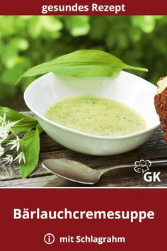Bärlauchcremesuppe A # wild garlic cream soup is hearty, has a fresh aroma. The in spring is highly recommended when the wild garlic is to be harvested. Authentic Mexican Recipes, Mexican Food Recipes, Vegetarian Recipes, Garlic Soup, Wild Garlic, Garlic Recipes, Chicken Recipes, Cream Soup Recipes, Vegetable Protein