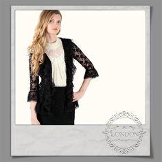 #Lace #Ruffle #Front #Cardigan