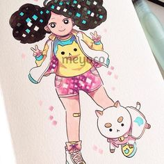 I'm binge drawing Bee and Puppycat fanarts, please bear with me (art tools: @pearlescentpink)