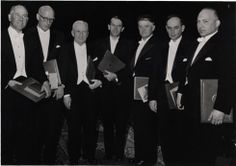 [1958 Nobel Prize recipients in Chemistry, Physics, and Physiology or Medicine]. Photographic Print. 1 Image. 1958.