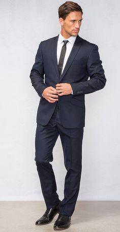 Sebring Pinstripe Merino Stretch Suit