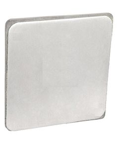 Steel City 449-BW Pre-Galvanized Steel Square Box Surface Cover with Raised 1/2-Inch and Blank Surface