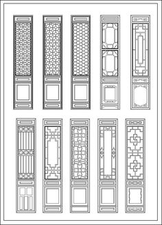 ☆【Chinese Door】 Cad Drawings Download|CAD Blocks|Urban City Design