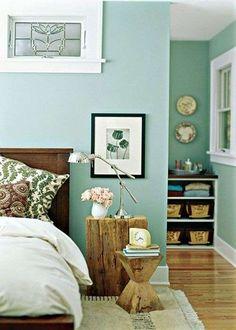 Camera da letto verde - Colore parete verde