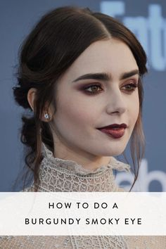 If a classic smoky eye is your go-to date-night makeup, then you're going to love this next-level burgundy version.