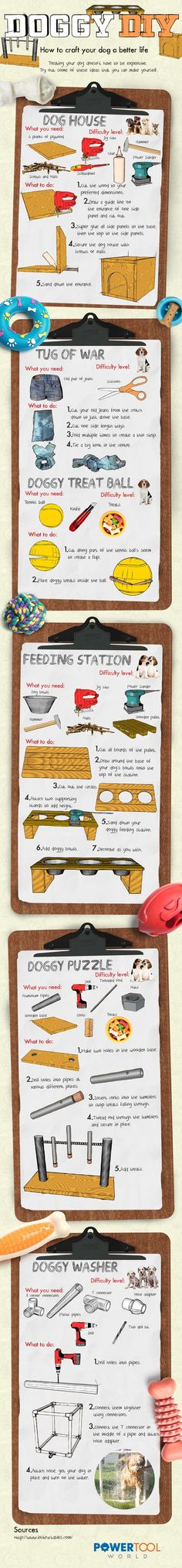 Dog #DIY projects to keep you and your dog busy! Easy to make and cost effective.