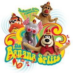 The classic children's TV show The Banana Splits Banana Splits Cartoon, Banana Splits Tv Show, Famous Cartoons, Classic Cartoons, 70s Cartoons, Old Tv Shows, Kids Shows, Sweet Memories, Childhood Memories