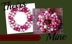 ornament wreath knock off comparison