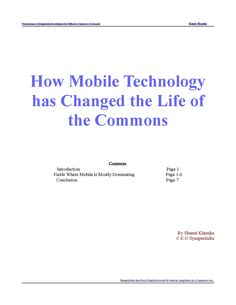 Mobile or wireless technology has reshaped the face of human communication for once and all. Today, out of the 7 billion people in the world, approximately 6 billion are cell phone subscribers.