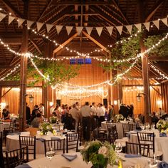 Barn Wedding Reception  photo by: Orchard Cove Photography