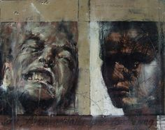 Guy Denning (English self taught contemporary artist/painter based in France. He is the founder of The Neomodern Group and part of the urban art scene in Bristol. Abstract Portrait, Portrait Art, Abstract Art, Portraits, Painting Inspiration, Art Inspo, Contemporary Art, Modern Art, Painting People
