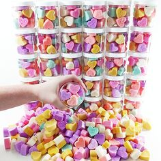 Gift your little sweetheart these adorable conversation SOAP hearts. We call them love in a jar! #etsy #gifts #valentinesday #valentine #hearts #cute #kids