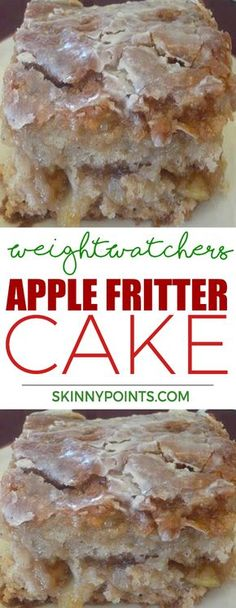 Apple Fritter Cake - Weight watchers smart Points Friendly