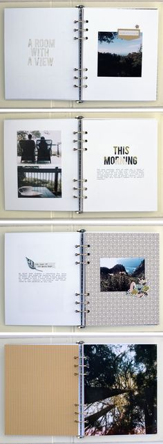 Big Sur Big Ten Album by Vanessa Perry (Diy Cuadernos) - Fiverr Outsource - Outsource your work on Fiverr and save your time. - Big Sur Big Ten Album by Vanessa Perry (Diy Cuadernos) Album Journal, Scrapbook Journal, Photo Journal, Journal Covers, Travel Scrapbook, Journal Ideas, Journal Design, Journal Layout, Bullet Journal
