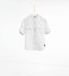 ZARA - KIDS - Textured weave shirt with pockets. Boy.