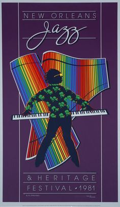 New Orleans Jazz Festival Poster - 1981