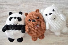 (notitle) Learn the basics of how to needlework (generic term), starting at the very first. Crochet Panda, Crochet Animals, Crochet Toys, Free Crochet, How To Start Knitting, Learn To Crochet, Knitting Patterns, Crochet Patterns, Easy Crochet Blanket