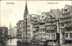 Ansichtskarte / Postkarte Hamburg Mitte Altstadt, Partie am Deichstraßefleth, Conrad Müllers Buchdruckerei, Eckstein