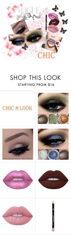 """Makeup"" by cindy-85 ❤ liked on Polyvore featuring Bottega Veneta, NYX, Lime Crime and Giorgio Armani"