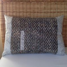 Batik cotton cushion 21 x 14 by rosiestar on Etsy, $48.00
