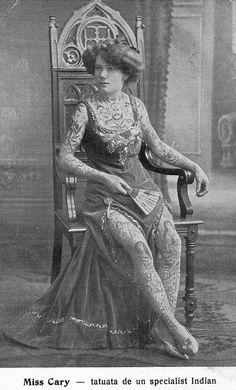 1910 Germany :: Miss Cary Full-Body Tattoos