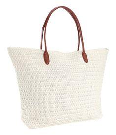 Straw beach bag - H+M, £9.99
