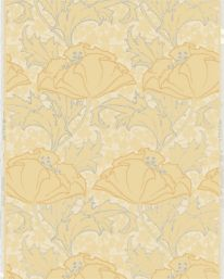 Berlin Gul/Glimmer från Lim & Handtryck Wall Wallpaper, Wallpaper Ideas, Flower Patterns, Pattern Flower, Christian Lacroix, Berlin, Display, Flowers, Inspiration