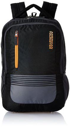 45db7e35f0a6 American Tourister 32 Ltrs Black Laptop Backpack (AMT AERO LAPTOP BKPK 01  -BLACK)